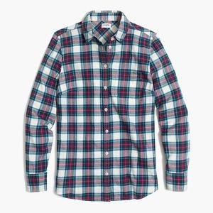 NWT J.Crew Boyfriend Fit Flannel Shirt